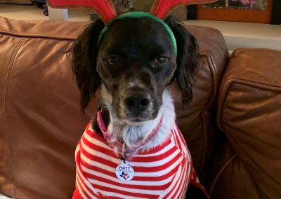 Christmas - 2018 - Poppy - antlers and red white pj's 12-25-18